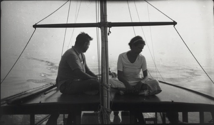Ernest and Alzira - Fishing trip in Key West, with the gang. Picture taken by Waldo.