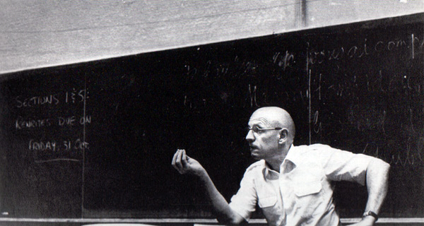 Michel Foucault. Photograph by Randolph Badler.