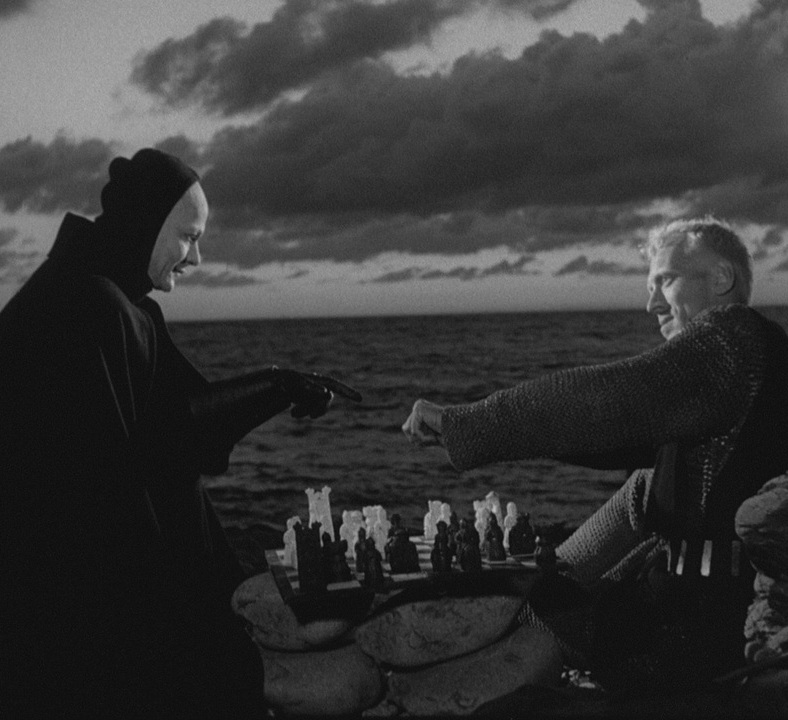 i met death today. we are playing chess
