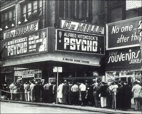 'Psycho' Première in New York, 1960.