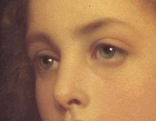 Biondina detail, 1879, Frederick Leighton.