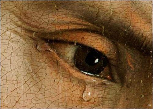 Detail  Decent from the Cross. 1435.  Rogier Van Der Weyden.