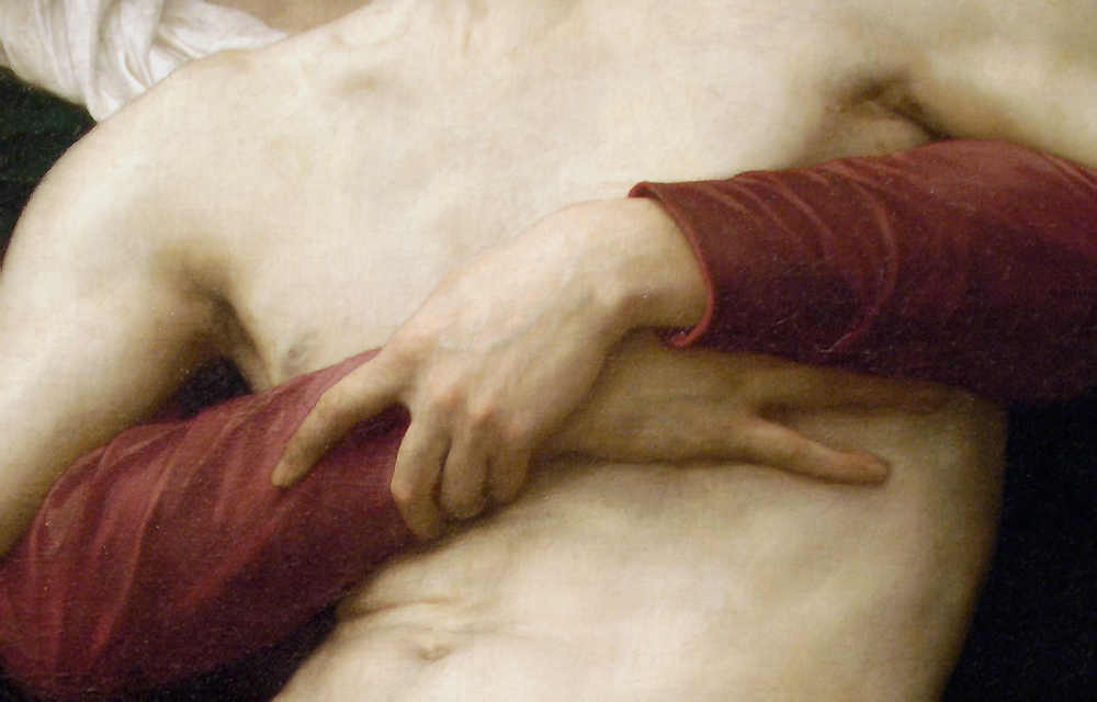 Detail of William-Adolphe Bouguereau's Pieta