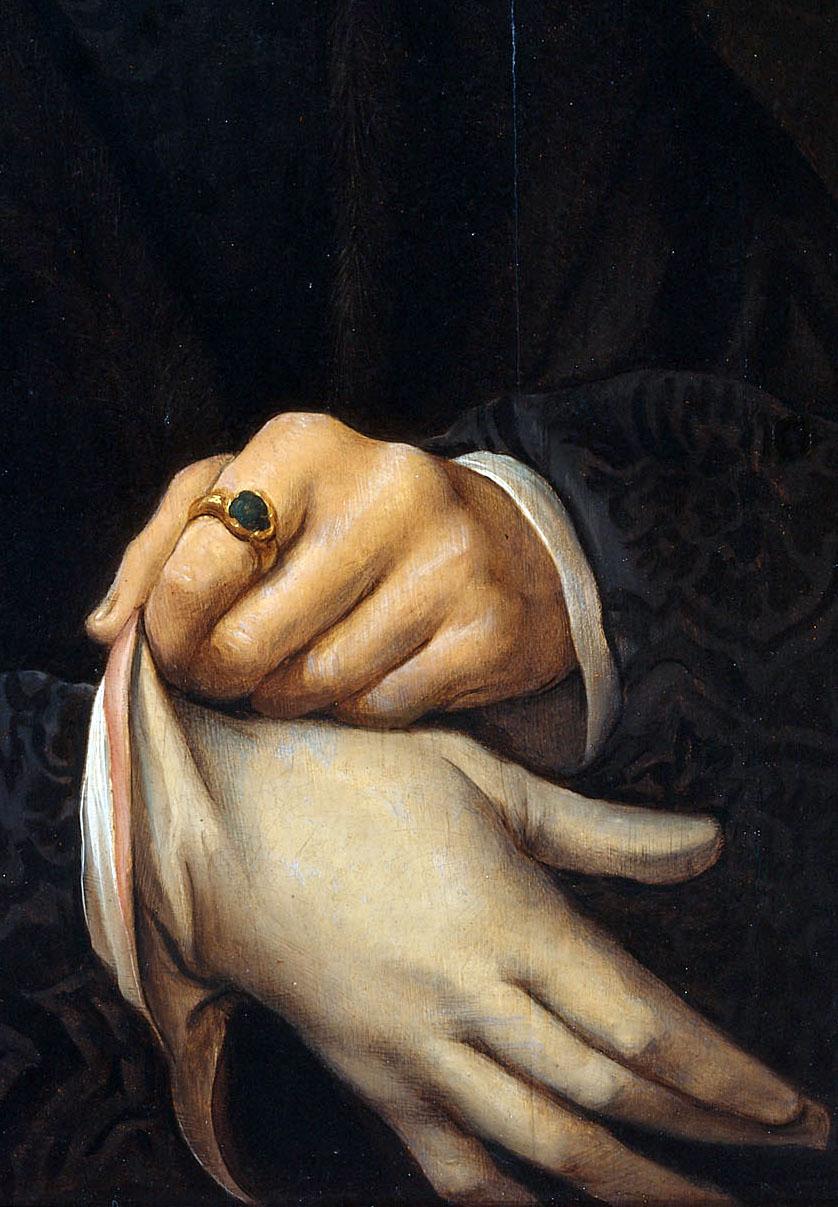 Joos van Cleve - Portrait of Joris Jacobs Vezelaer (detail), 1518