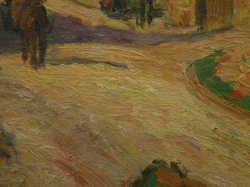 Pissarro - Un carrefour à l'Hermitage, Pontoise (détail)