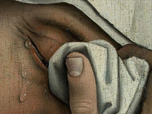 Roger van der Weyden - Descent from the Cross, 1435 (detail)