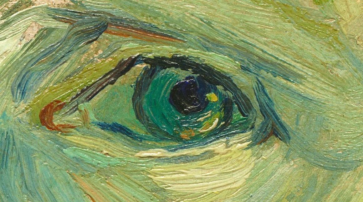 Vincent van Gogh, Detail of eye from Self Portrait (1889).