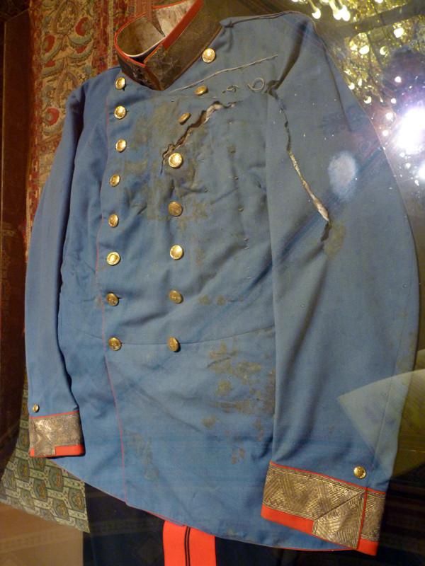 Archduke Franz Ferdinand's blood-stained uniform, 1914