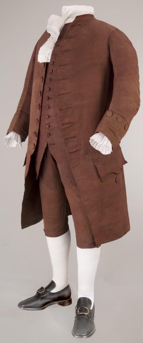 Benjamin Franklin's silk suit (1778)