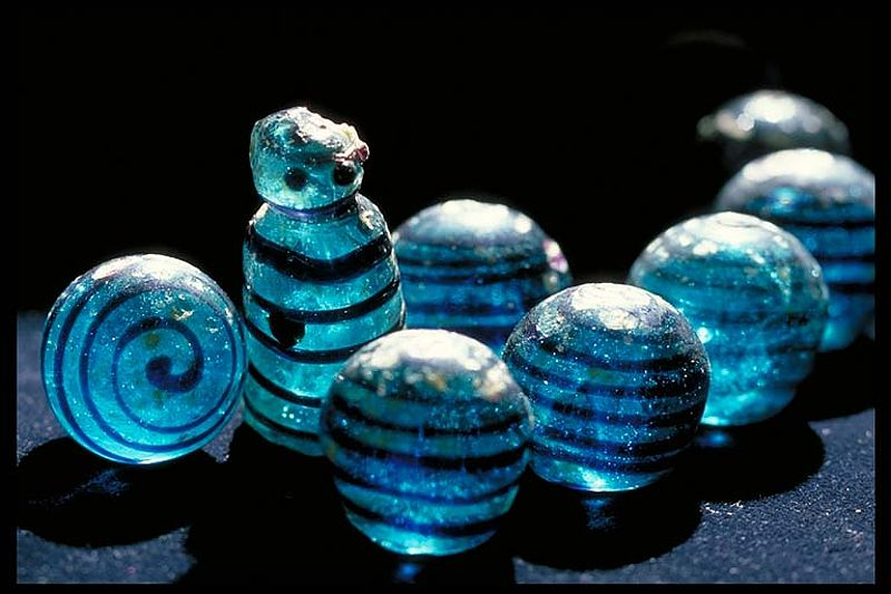 Board game pieces - From the Viking town Birka, Sweden. (8th-10th century)