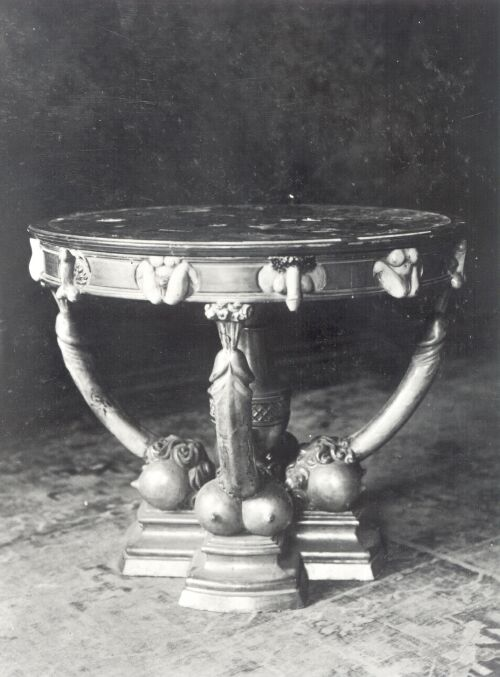 Catherine the Great's chair and table, probably destroyed by communist in 1950