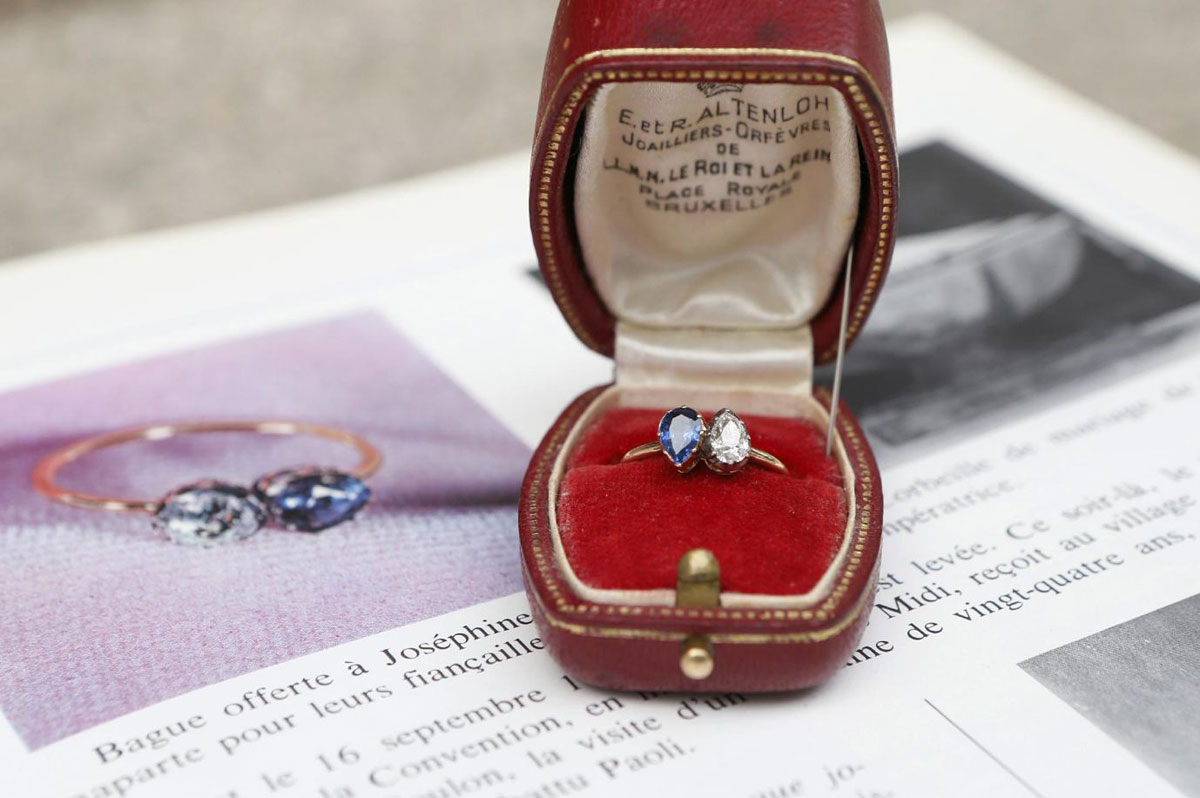 Engagement ring which Napoleon Bonaparte gave to Josephine