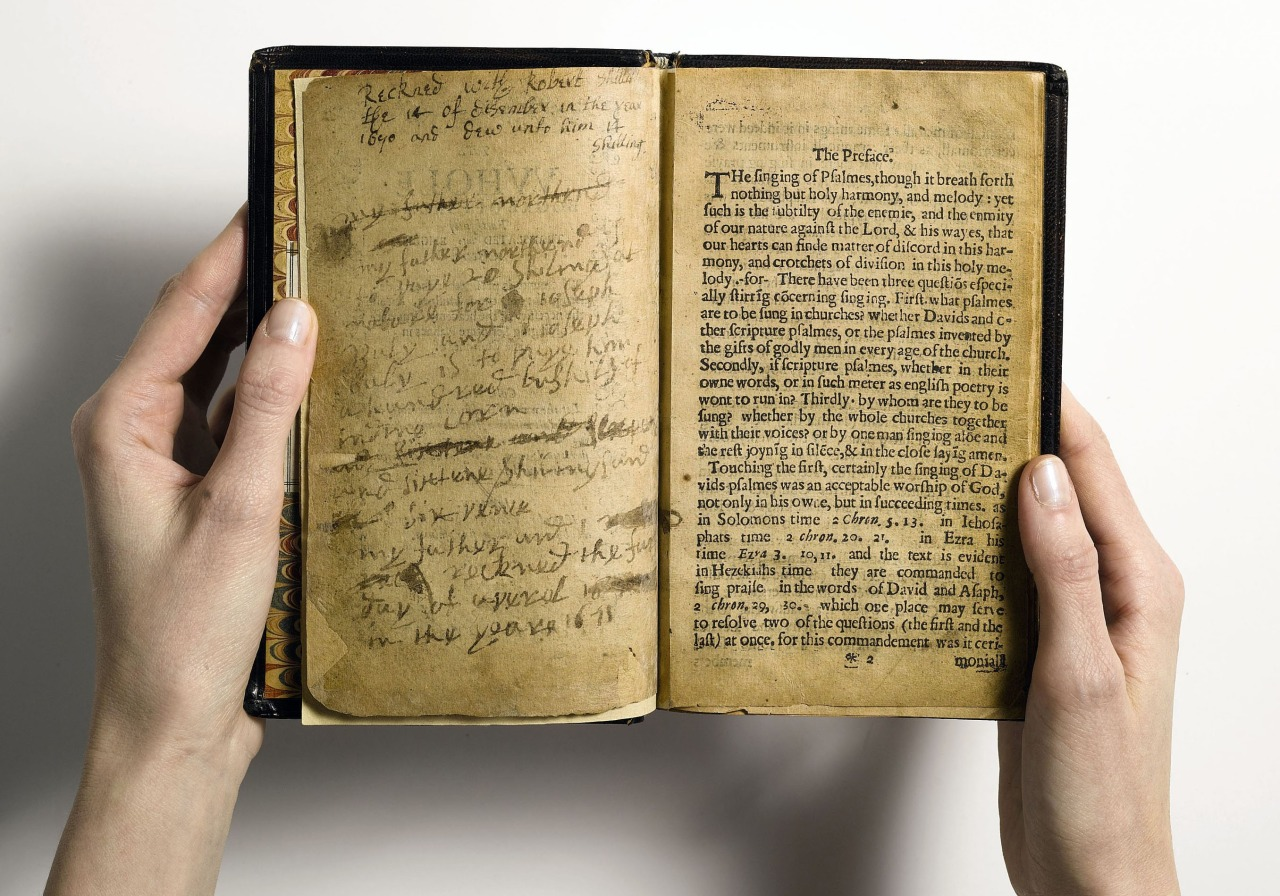 The Bay Psalm Book, the first book printed in North America (1640)