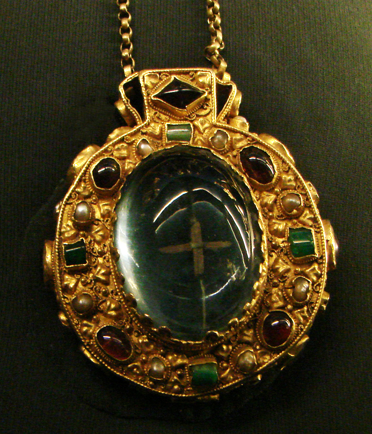 The Talisman of Charlemagne. The amulet was buried with Charlemagne in 814. Empress Josephine, wife of Napoleon, wore it at her coronation in 1804.