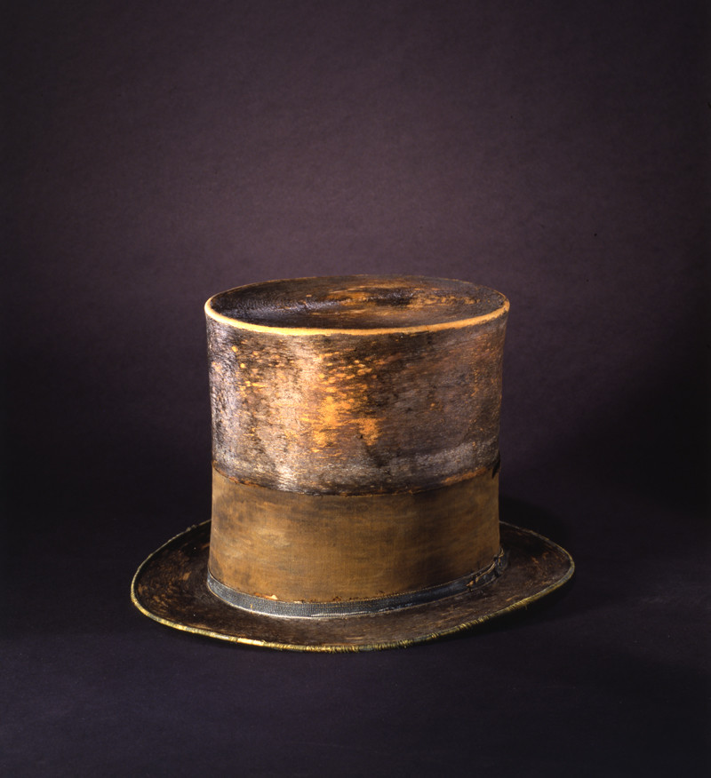 The hat Abraham Lincoln wore on the night he was assassinated