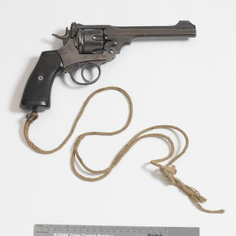 The service weapon of J R R Tolkien, who served on the Somme before contracting trench fever in October 1916