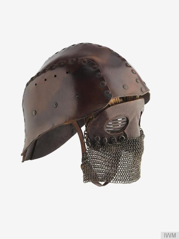 This First World War period protective face masks (as issued to Tank Corps personnel) were worn in the Battle of Cambrai, 20 November 1917.