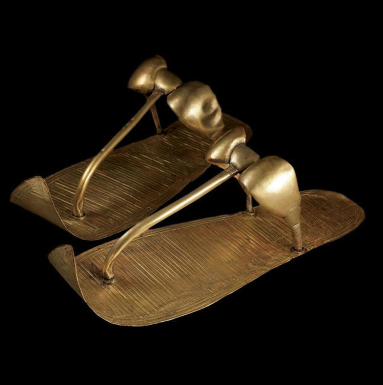 Tutankhamun's golden sandals