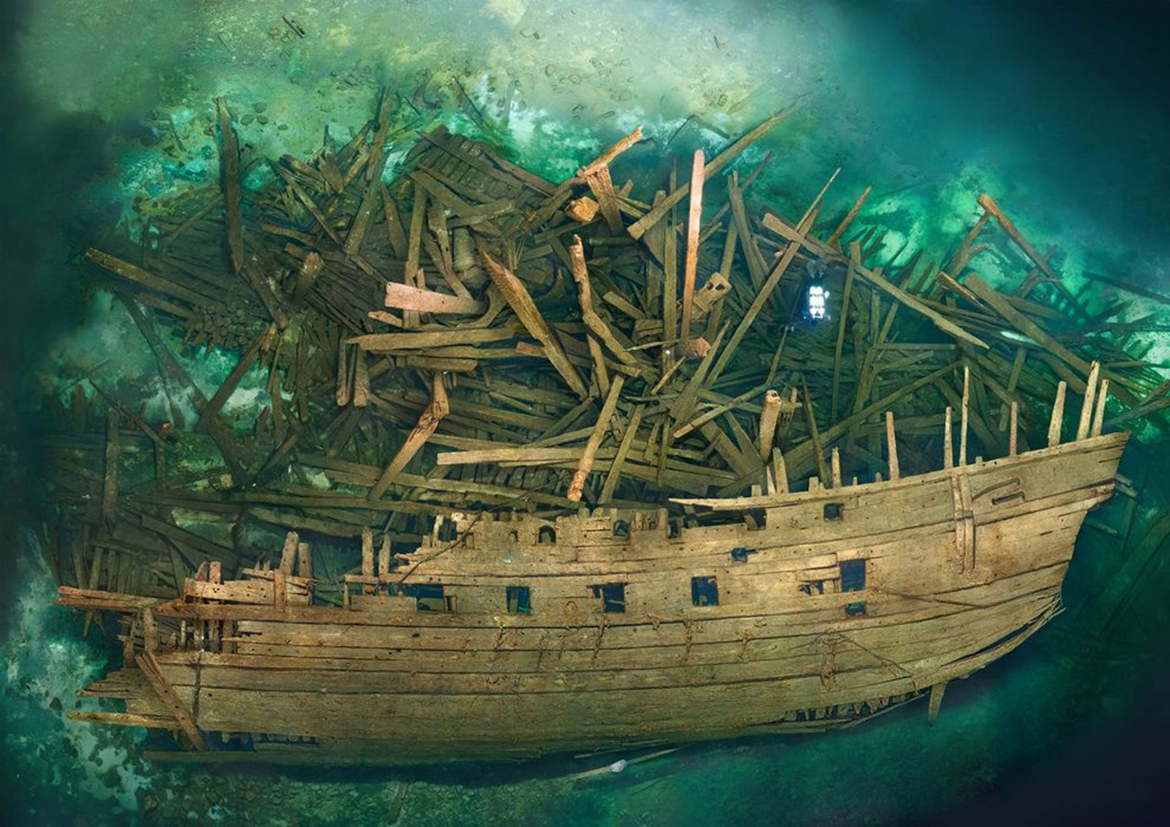 Wreck of the Swedish warship Mars, which exploded during the first battle of Öland, 1564 (Baltic Sea)