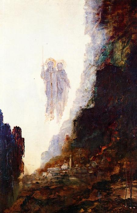 Gustave-Moreau-The-Angels-of-Sodom