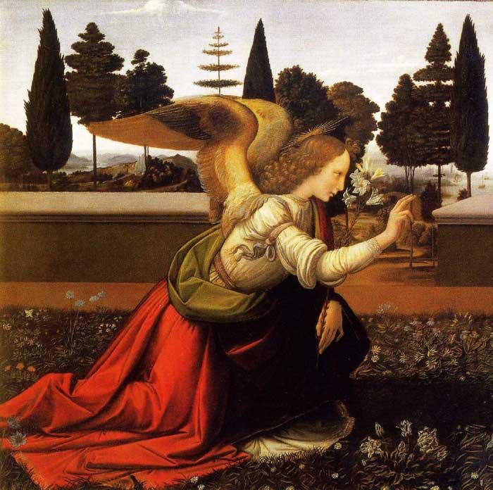 Leonardo-Annunciation-Angel