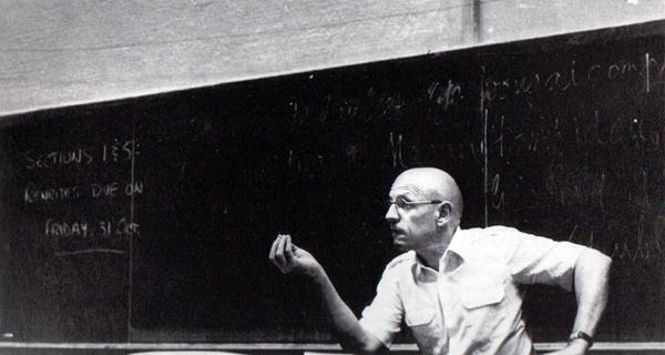 Michel Foucault. Photograph by Randolph Badler.